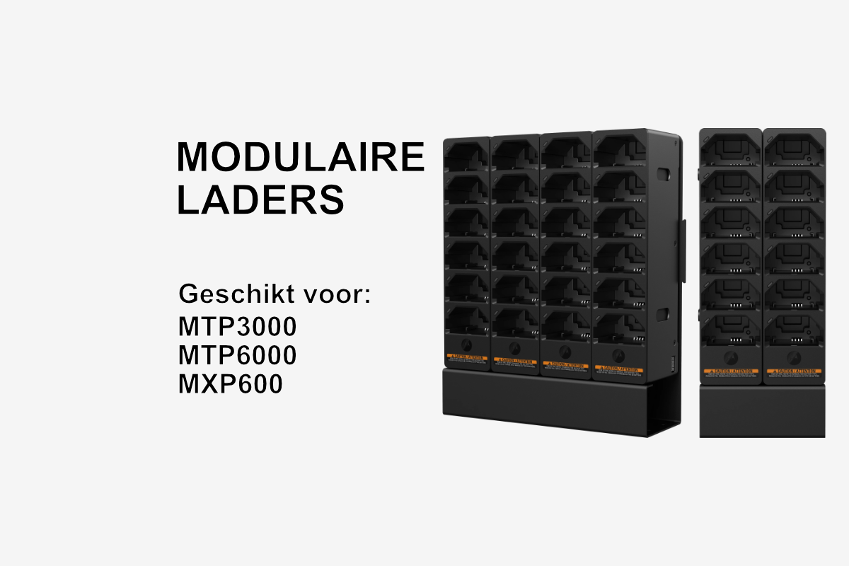 Nieuwe modulaire laders voor TETRA portofoons